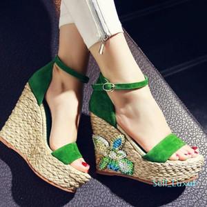 Sexy2019 Duygular Amorous Ulus Rhinestone Hua Po ile Hasp Düşük Yardım Kadın Sandalet Kadın ayakkabı