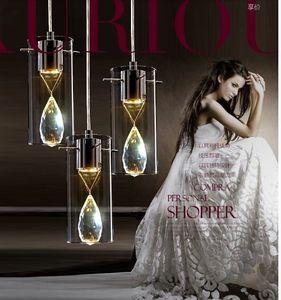 3W Single head Luxury K9 crystal modern hanging lamps Sparkling Jewelry diamond droplight loft Cutting glass led pendant lights