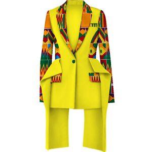 Moda Africana de impresión chaqueta superior de la Mujer Bazin Riche chaqueta superior 100% algodón de Dashiki mujeres ropa africana WY3935