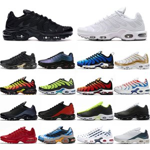 Nike Air Vapormax TN Plus Se Scarpe da corsa economiche Uomo OG Scarpe da ginnastica Mastermind Japan Triple Black bianche Zebra Olive Camo da donna Primeknit Sports Sneakers