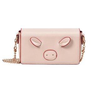 saco pequeno-Designer bonito 2019 novos coreano rede feminina Red Shoulder bag Mensageiro pequenas namoradas pacote quadrados cadeia porco selvagem