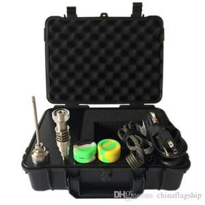 Идеальный Новейший портативный корпус E Digital Nail Kit с Ti / Qtz гибрид ногтей Fit обогреватель Digital Эфирное масло Испаритель DHL бесплатно катушками