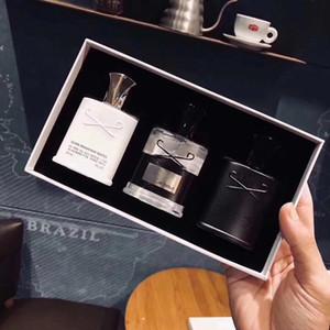 High-end homens perfume qualidade colônia fresca e fragrância duradoura masculino EDT transporte livre de três peças combinação perfume
