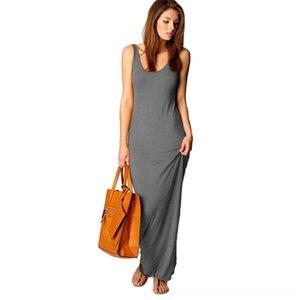 LSJBn s vestidos de verano para mujer mujeres Lluxury diseñador de vestidos de verano y casual Mar Beach largo del estilo de Cutton Blend refresco Mujer Dres cómodo