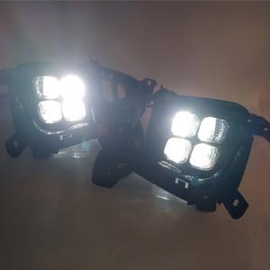Coche DRL LED de conducción diurna Luz delantera parachoques luz de niebla lámpara de luz para KIA Sorento 2018 2019 Niebla sustitución al día