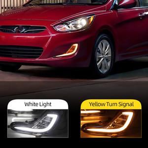 1 Çifti DRL için Hyundai Accent Solaris Verna 2010 2011 2012 2013 Gündüz Farı Sis Işık kapağı Sinyal lambası