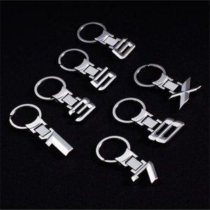 Daha 40logos 100pc Yeni Metal Ally Krom Araç Anahtarlık Anahtarlık Anahtarlık Number 1 3 5 6 7 8 X Serisi Daha