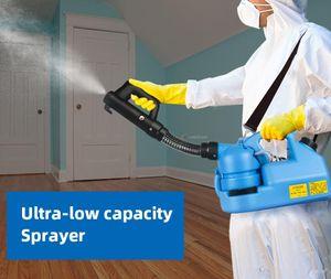 EEUU Stock 220V 7L eléctrico ULV en frío Fogger Insecticida atomizador de máxima capacidad de desinfección del asesino del mosquito pulverizador ULV en frío Máquina Fogger