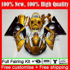 Kit para YAMAHA YZF R6 98 YZF600 YZFR6 98 99 00 01 02 88MT22 YZF 600 Oro negro YZF-R600 YZF-R6 1998 1999 2000 2001 2002 2002 Carenado