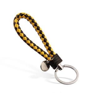 Moda Woven carro corda de couro chaveiros corda preparação de couro carro corda chave de suspensão Acessórios de jóias tecidos à mão
