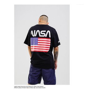 Imprimir hombre de gran tamaño Tops Hemme paño ocasional LawFoo impresión exquisita hombre Fshion camiseta diseñador estadounidense Flage