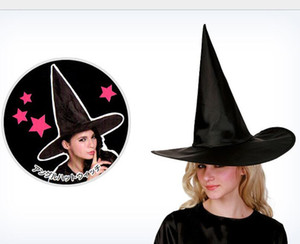 Halloween schwarz Hexenzauberer Hut Partei Cosplay Kostüm Requisiten Männer Frauen Magie Schirmmütze Kinder Jungen Mädchen Teufel Kap Hüte