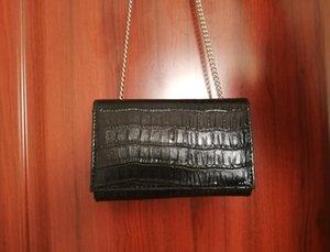 Diseño de cuero bolsos de alta calidad de la PU de la moda cocodrilo Cadenas De Mujeres totalizadores señoras de cocodrilo bolsas de hombro Crossbody