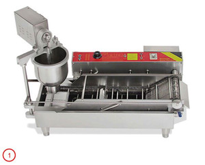 Automatic Donut elettrico Maker Machine Popolare Donutmaker commerciale Donuts fa macchina acciaio inox con 3 Stampi