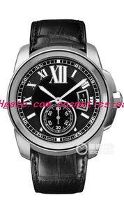 10 Stil Lüks Yeni Paslanmaz Çelik Otomatik Erkek İzle 42mm W7100041 Siyah Deri Bileklik Band erkek Saatler Saatı