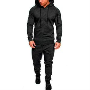 Sonbahar Erkek Tasarımcı eşofman Moda Kamuflaj Hiooded Hırka Hoodie İki Adet Pantolon Moda Casual Erkek eşofman