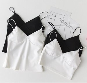 2019 Fashion Sexy Women Padded Tops V Neck Camisole Straps Push Up Vest Tank Free Shipping