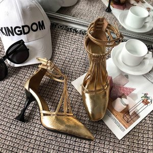 Designed high-heeled shoes -2019 new fashion high-heeled shoes for women imported leather 2 colors optional size 35-40