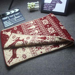 190 * 33cm warme Winter Schal für Frau-Mann-Weihnachts Schal Mode Snowflake Elk-Druck-Schal verdicken Wolle stricken Schals Weihnachtsgeschenk LJJA3263