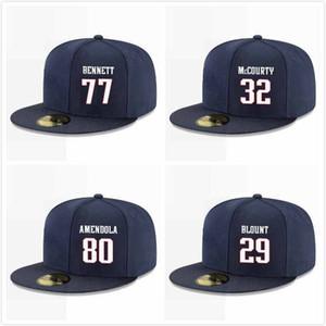 Özel Beyzbol Snapback Şapka Ted Karras'ın İşaya Wynn Shaq Mason Adam Butler Matt LaCosse Danny Shelton Michael Bennett Korey Cunningham Caps