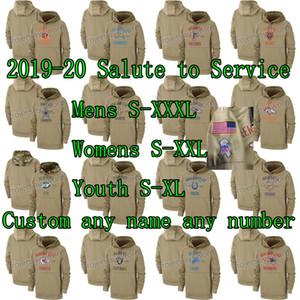 2019-20 Salute to Serviço camisola do Hoodie 32 Jerseys bola do pé das mulheres dos homens da Juventude Equipe personalizado qualquer nome de qualquer número de S-XXXL Atacado