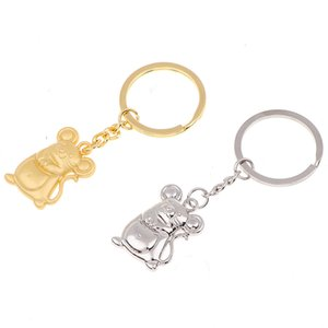 Silber Gold Ratte Maus Keychain Mode Tränke Tierauto Keyfob Tasche Anhänger Schlüsselanhänger Schlüsselanhänger für Frauen-Geschenk