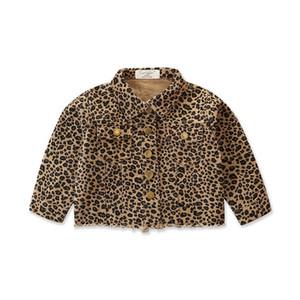 Ins 2020 leopardo bebés casacos de manga longa meninas casacos crianças jaquetas roupas de grife casaco de moda bebê da menina da criança B101 varejo