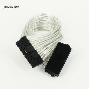 Bilgisayar Büro Bilgisayar Kabloları Konnektörler jonsnow 24 Pim PSU Tedarik Uzatma Kablosu 30cm 24 pin Güç Kaynağı Erkek