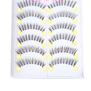 10 Pairs Fake Eye Lashes Natural False Eyelashes Extensions Tools Makeup Eyelashes Volume Individual Lashes Make Up For Pro