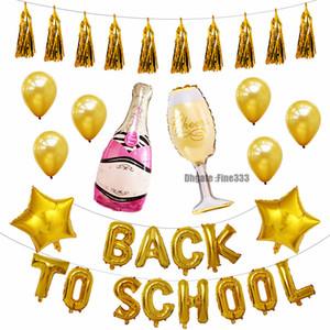 Fiesta de regreso a la escuela Escuela de globos Nuevo semestre Celebración de globos Juego de papel de aluminio Suministros de globos Juguetes