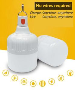 320W 300W 260W 220W 180W 150W 100W 80W 60W USB del bulbo de las luces LED de emergencia recargable regulable aventura al aire libre Ampolla lámpara que acampa