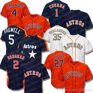Alex Bregman Astros 27 Jose Altuve 4 George Springer 1 Carlos Correa 35 Justin Verlander Houston 5 Jeff Bagwell 34 Nolan Ryan Baseball Jerse