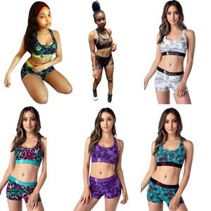 Ethika Women Designer Swimsuit Crop Top Vest + Swim Shorts Trunks Boxers 2 Piece Set Tracksuit Patchwork Shark Camo Swimwear Bikini SOMG