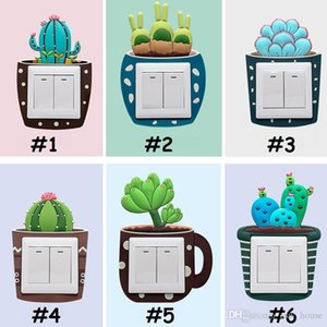 luminous Cactus switch stickers washable switch stickers home living room bedroom environmentally friendly Switch Stickers Home Decor