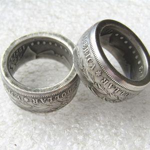 Morgan Silver Dollar Coin Кольцо «орел» Посеребренный ручная работа в размерах 8-16