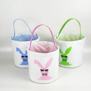 15styles Easter Basket Easter Bunny sacchetti di immagazzinaggio Egg Candy Baskets benna di tela paillettes bagagli Tote Easter Rabbit Borse GGA3189