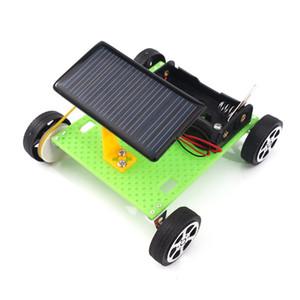 DIY 태양 광 전기 자동차 중소 과학 실험 물리학 발명품 퍼즐 장난감