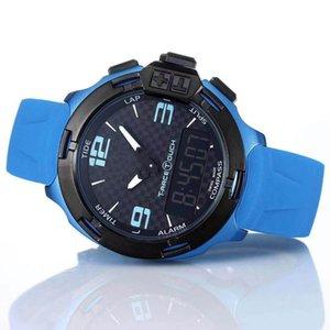 T Race Touch T081 Hombre Reloj Pantalla Altímetro Brújula Crono Cuarzo Azul Correa de caucho Despliegue Broche Relojes de pulsera para hombre Relojes