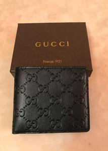 hediye kutusu ile Yeni Geliş PU Deri Cüzdan İçin Erkek Designe Bifold Para Çanta Yüksek kaliteli cluch cente Parti Traver Cüzdan