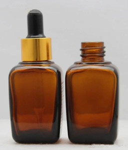 E sigara vape amber cam uçucu yağ parfüm eliquid şişe kare 30 ml 30g damlalık şişe ücretsiz kargo