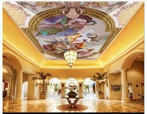 3D personalizado zenith mural wallpaper foto interior decoración HD Europeo ángel cálido salón zenith techo mural fondo pared