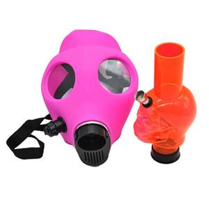 Gas Mask Силиконовые трубы с Акриловый бонг для курения Твердая Камо цвета Креативный дизайн Dabber для сухой травы Concentrate Косплей