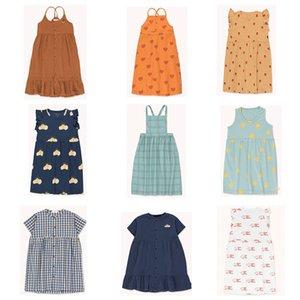 EnkeliBB TAO Yaz Yeni Bebek Kız Marka Elbise Çocuklar Kısa Kollu Elbiseler Çocuk Hawaii Güzel A-line Elbise Bebek Elbise