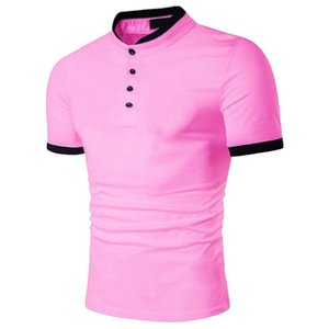 ZOGAA Plus Size S-3XL 2019 Polo Shirts Men Cotton Short Sleeve Casual Shirts Pink Summer Breathable Polo Shirt Men Brand Polos T200528
