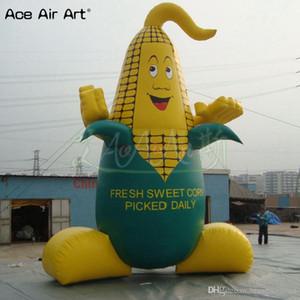 modèle alimentaire végétale géante épi de maïs gonflable, maïs joli personnage de dessin animé avec la livraison gratuite et le ventilateur pour l'exposition agricole