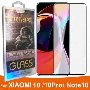Cas courbe 3D amical en verre trempé écran protecteur pour Xiaomi MI 10 NOTE 10 1PRO note10 CC9 PRO COMPLET COVAE VERRE détail dans BOX