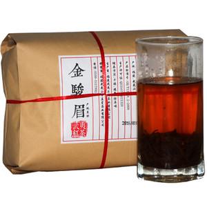Tercih edilmekte 500g Çin Organik Siyah Çay Wuyi Jinjunmei Kırmızı Çay Sağlık Yeni Pişmiş çay Yeşil Gıda Kraft ambalaj