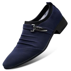 2020 loafer'lar Erkekler Ayakkabı Düğün Oxfords Formal Ayakkabı Erkekler Erkek Elbise Ayakkabı ayakkabı Herren Sapato Masculino Sosyal Monk Kayış Loafer