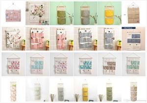 24 duvar asılı depolama çantası Pamuk Keten Organizatör Çanta Kapı Muhtelif Bags Muhtelif Sıralama Çanta Asma tasarımlar