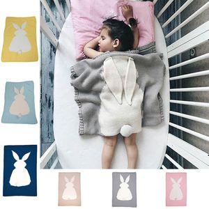 Coprispalle per bambini Coperte per neonati Copripiumini per neonati Coperte per l'aria condizionata Coperte orecchie per conigli di Pasqua Solid Quilt da viaggio 6